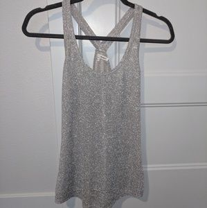 NWOT Sparkly Silver Tank